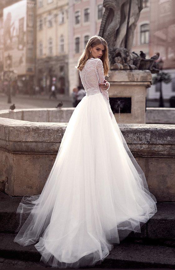 Svadobné šaty s dlhými čipkovanými rukávmi,Bratislava
