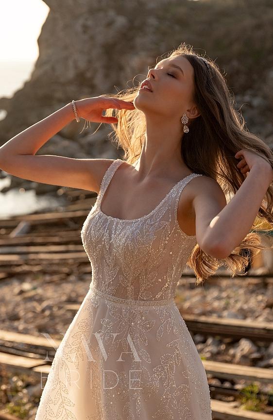 Svadobné šaty čipkované s ramienkami