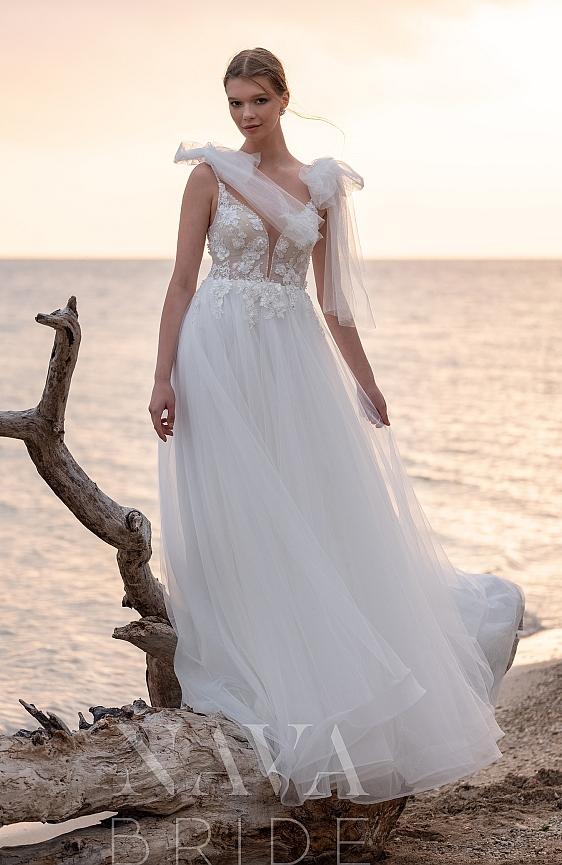 Svadobné šaty s ramienkami - požičovňa Bratislava