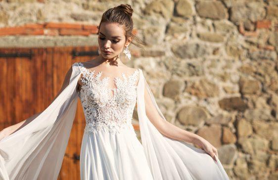 Svadobné šaty s dlhými rukávmi Wedding Gallery Bratislava požičovňa a predaj svadobných šiat
